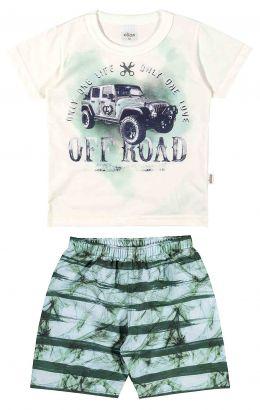 Conjunto Infantil Masculino OffWhite Off Road Elian