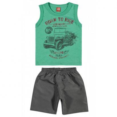 Conjunto Infantil Masculino Verde Born to Ride Elian