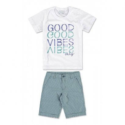 Conjunto Infantil Masculino Verde Good Vibes Malwee