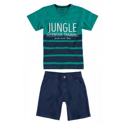 Conjunto Infantil Masculino Verde Jungle Carinhoso