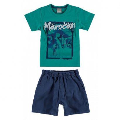Conjunto Infantil Masculino Verde Marocan Carinhoso