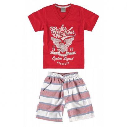 Conjunto Infantil Masculino Vermelho Eagles Carinhoso