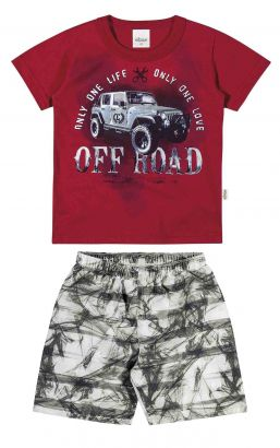 Conjunto Infantil Masculino Vermelho Off Road Elian
