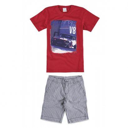 Conjunto Infantil Masculino Vermelho Unleash Malwee