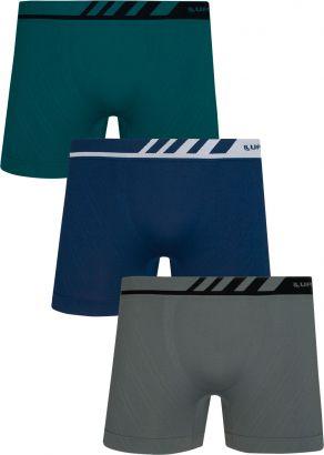 Cueca ADULTO Boxer Microfibra Kit 3 Lupo