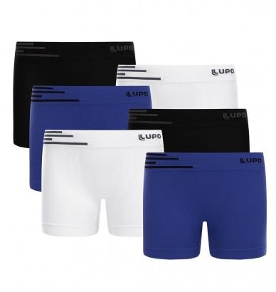 Cueca Infantil Boxer em Microfibra Kit com 6 cuecas Lupo