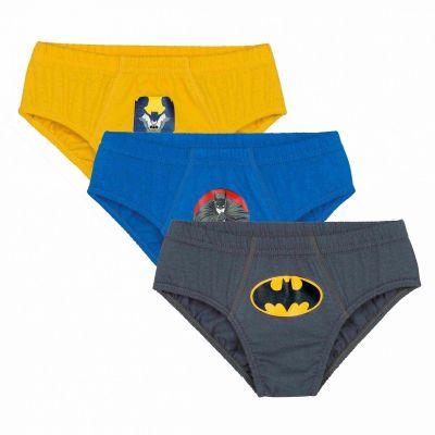 Cueca Infantil Slip Kit 3 cuecas Batman Lupo