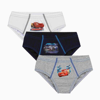Cueca Infantil Slip Kit 3 Carros Lupo