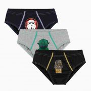 Cueca Infantil Kit 3 cuecas Star Wars Lupo