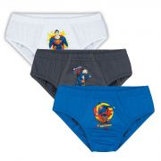Cueca Infantil Kit 3 cuecas Superman Lupo