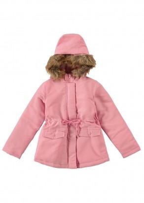 Jaqueta Inverno Infantil Feminino Rosa com Capuz - Malwee
