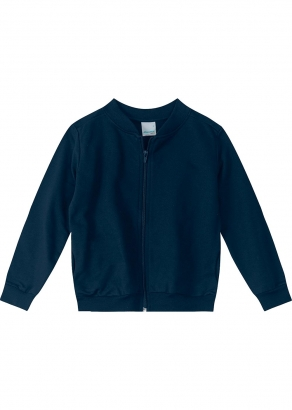 Jaqueta Infantil Masculina Azul Básica - Malwee