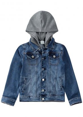 Jaqueta Infantil Masculina Inverno Azul Jeans Malwee