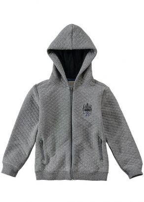 Jaqueta Infantil Masculina Inverno Cinza London Carinhoso