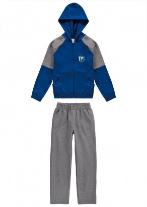 Conjunto Inverno Infantil Masculino Azul - Malwee