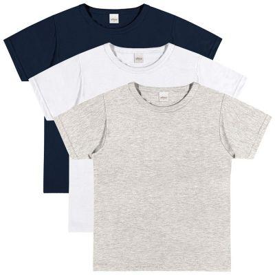 Camiseta Infantil Masculina Kit 3 Verão Elian