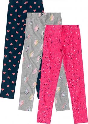 Kit 3 Legging Infantil sem Flanela Coloridas - Malwee
