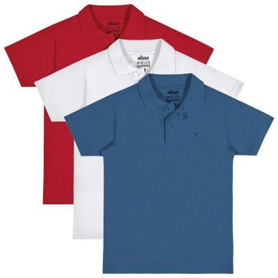 Polo Infantil Masculina Kit 3 Verão Elian