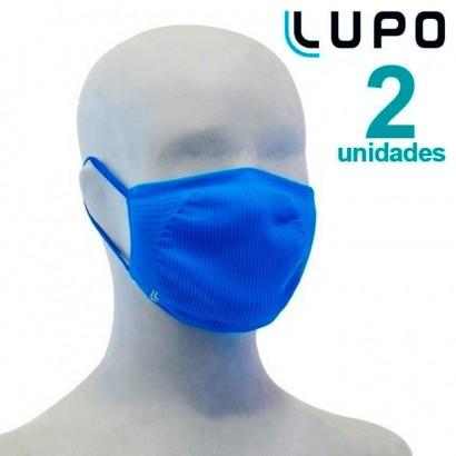 Kit com 2 Máscaras de Proteção Infantil Lupo Virus-Bac OFF