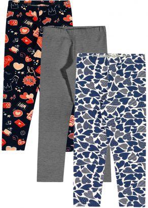 Legging Infantil Feminina Inverno Love Kit 3 Elian