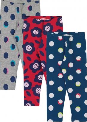 Legging Infantil Feminino Kit 3 Inverno Cinza Balls - Elian
