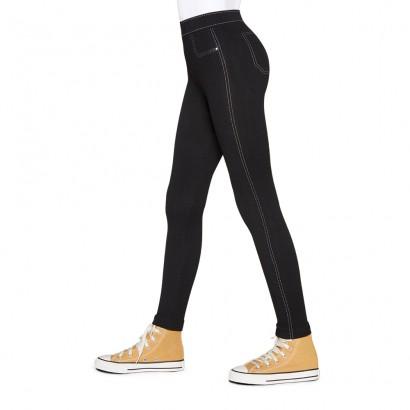 Legging Jeans Infantil Lupo Fio 150 Preta