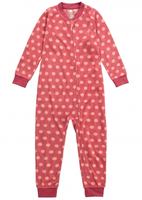 Macacão/Pijama Infantil Feminino Inverno Rosa Poá Malwee