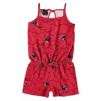 Macaquinho Infantil Vermelho LadyBug Malwee