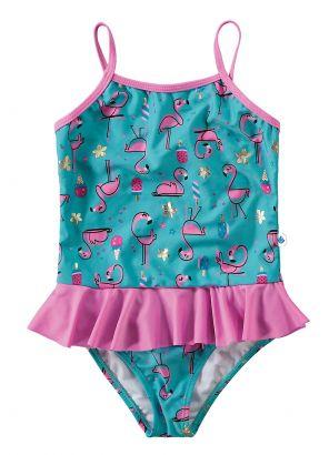 Maiô Infantil Azul Flamingo Malwee