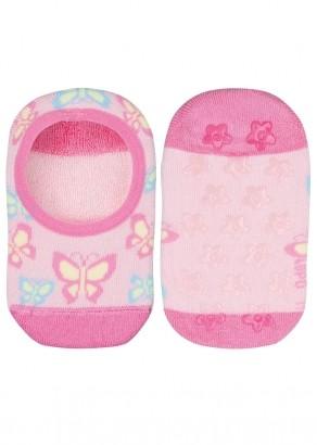 Meia Antiderrapante Infantil Feminina Rosa Butterfly Lupo