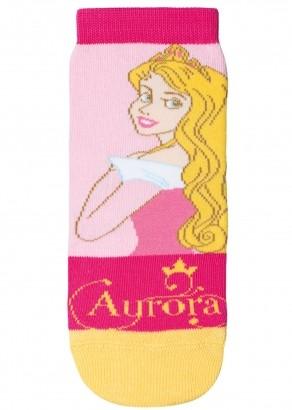Meia Infantil Disney Rosa Princesa Aurora Lupo