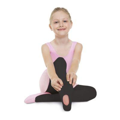 Meia Calça Infantil Ballet Versátil Preta Fio 60 Lupo
