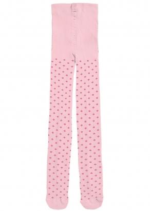 Meia Calça Infantil Rosa Canelada Fio 80 - Malwee