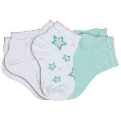 Meia Infantil Feminina kit 3 Azul Star Lupo