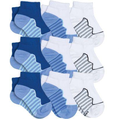 Meia Infantil Masculina kit 9 Azul Royal Listras Lupo