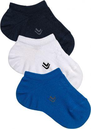 Meia Sapatilha Infantil Masculina Azul Kit 3 Pares Lupo