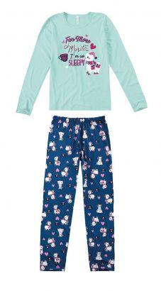 Pijama ADULTO Feminino Inverno Azul Five Minutes Malwee