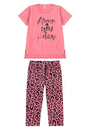 Pijama Adulto Feminino Inverno Rosa Always Malwee