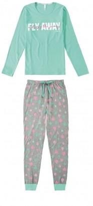 Pijama ADULTO Feminino Inverno Verde Balão Malwee