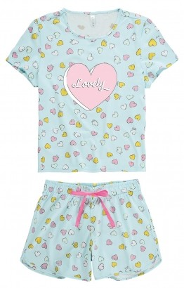 Pijama Feminino ADULTO Azul Lovely - Malwee