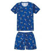Pijama Infantil Azul Royal Leão Malwee