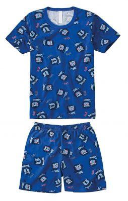 Pijama Infantil Masculino Azul Royal Leão Malwee