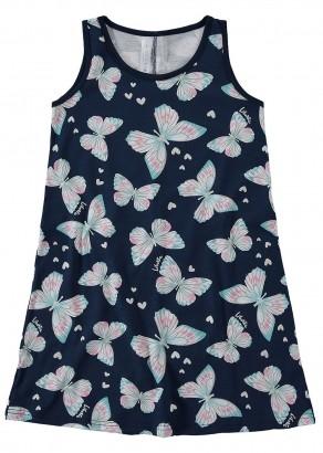 Pijama Feminino Mãe e Filha Azul Marinho Estampa Borboleta - Malwee