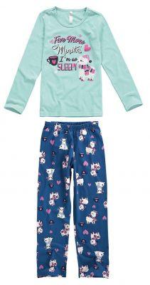 Pijama Infantil Feminino Inverno Azul Five Minutes Malwee
