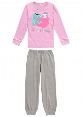 Pijama Infantil Feminino Inverno Lilás Pillow Malwee