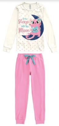 Pijama Infantil Feminino Inverno OffWhite Better Malwee