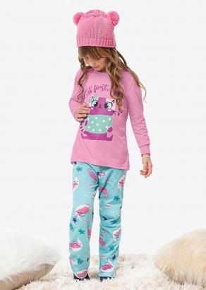 Pijama Infantil Feminino Inverno Rosa Cat - Malwee