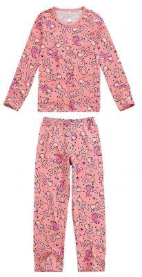 Pijama Infantil Feminino Inverno Rosa Coelhos Malwee