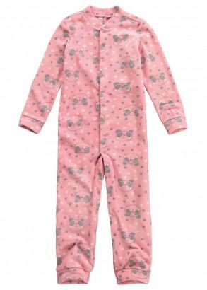 Pijama Infantil Feminino Inverno Rosa Panda  Malwee