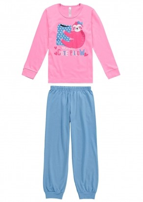 Pijama Infantil Feminino Inverno Rosa Pillow Malwee